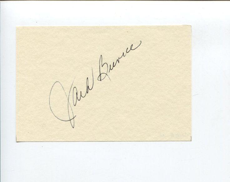 Jack Burke Jr PGA Golf Golfer Masters Ryder Cup Champ HOF Signed Autograph