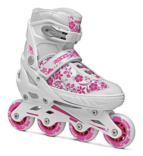 Roces patines en línea para niña Compy 8.0 Blanco white-Violet Talla:30 - 33