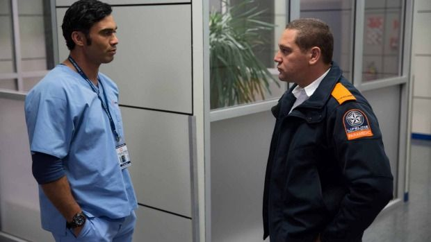Working at a private New Plymouth hospital before landing a role on Shortland Street turned out to be a smart move for Karlos Drinkwater. playing Caleb Potene the right.