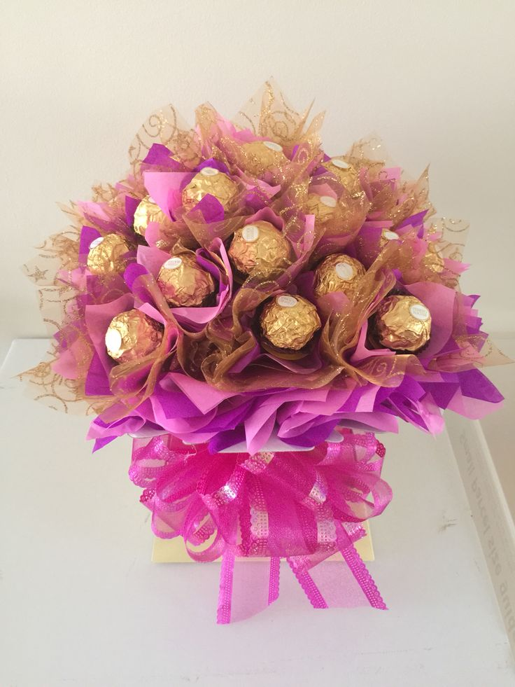 21 best Chocolate bouquets images on Pinterest | Chocolate bouquet ...