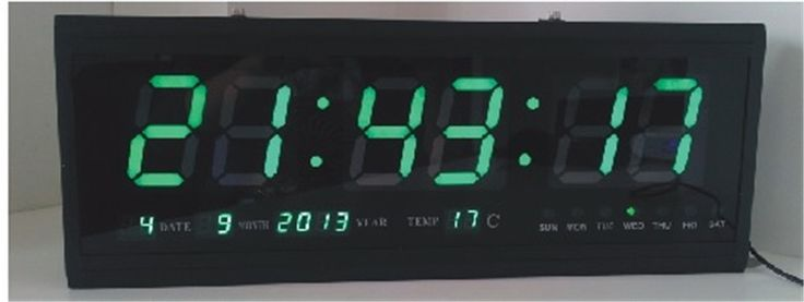 72.00$  Buy now - http://alixiz.worldwells.pw/go.php?t=32627901773 - HT4819SM-6,Free Shipping,Aluminum Large Digital LED Wall Clock ,Big Watch Modern Design,Digital clock! Led electronic calendar