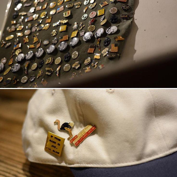 NEW MAN KNP HEAD WEAROLD PINS  80年代のデットストックのピンズ旬なアイテムなので少しレトロなデザインを意図的にセレクトしました  80's DEAD STOCK OLD PINS 800yentax  #pins#80s#fashion#tokyo#NEWMAN#eyewear#KNP#cap#tokyo#harajuku#fashion#rawdrip2nd by raw2nd