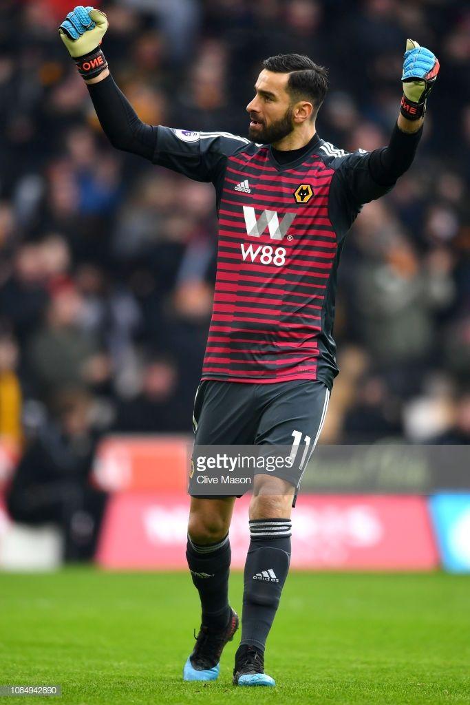 Rui Patricio Of Wolverhampton Wanderers Celebrates His Team S First Wolverhampton Wanderers Wolverhampton Goalkeeper