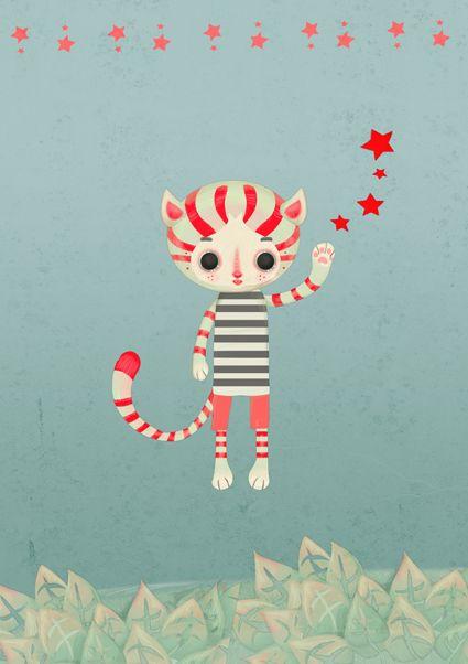 sweet cat by SIMONA BURSI http://sibursi.tumblr.com