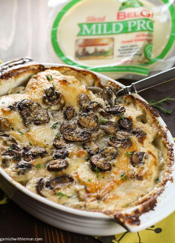Provolone, Mushroom and Potato Gratin