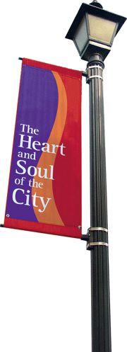 street light banners/hgtv idea