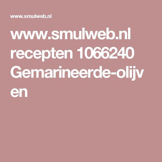 www.smulweb.nl recepten 1066240 Gemarineerde-olijven