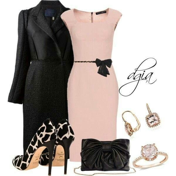 With black pumps instead