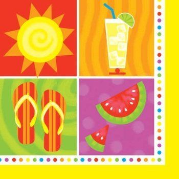 Summertime Fun Beverage Napkins 18 Per Pack by Creative Converting. $2.99. Manufactured to the Highest Quality Available.. Design is stylish and innovative. Satisfaction Ensured.. Creative Converting is a leading manufacturer and distributor of disposable tableware including high-fashion paper napkins plates cups and tablecovers in a variety of solid colors and designs appropriate for virtually any event
