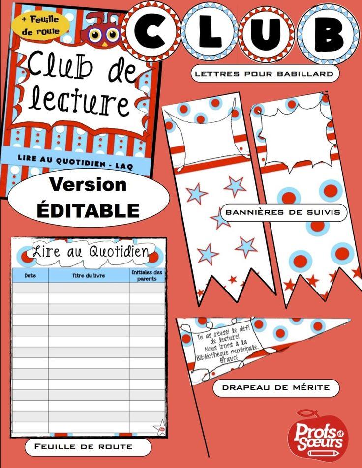 Le club de lecture: encourager la lecture au Quotidien à l'école et à la maison.