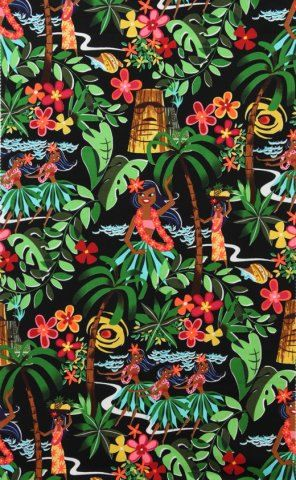 Leis Luaus & Alohas Black-15093B By Alexander by fabricfetish