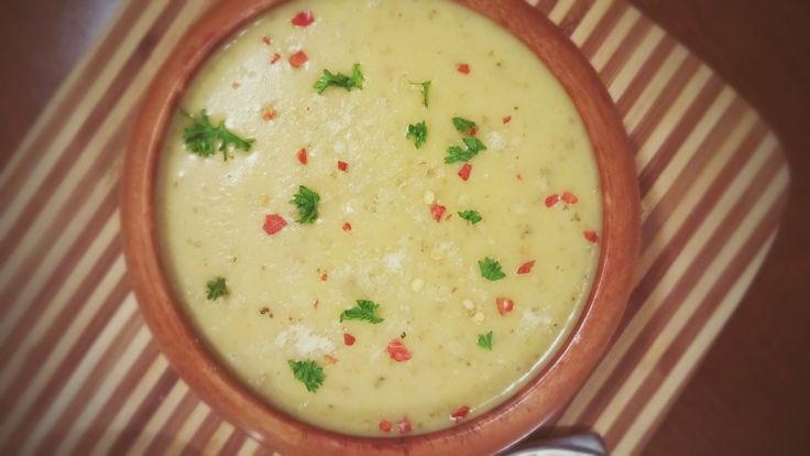 http://happyveggie.weebly.com/recipes/creamy-pesto-potato-soup