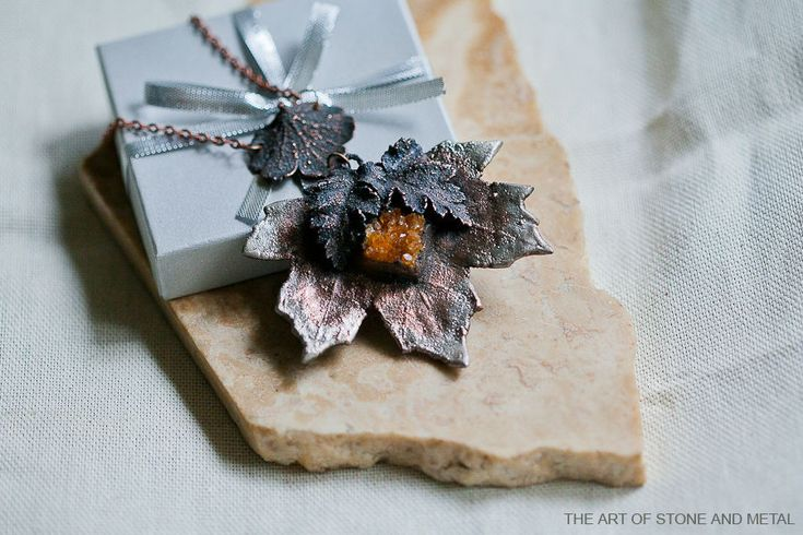 Купить Кулон из металла с цитрином Рыжий Эльф - кулон, кулон с камнем, кулон натуральный камень