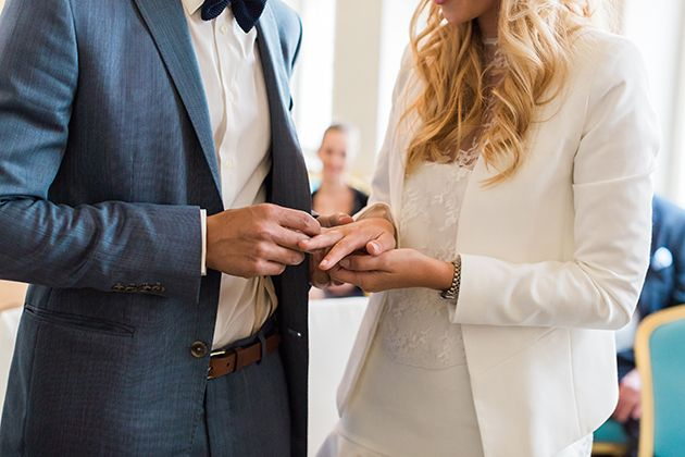 Chic Civil Ceremony | Ashley Ludaescher Photography | Bridal Musings Wedding Blog 14