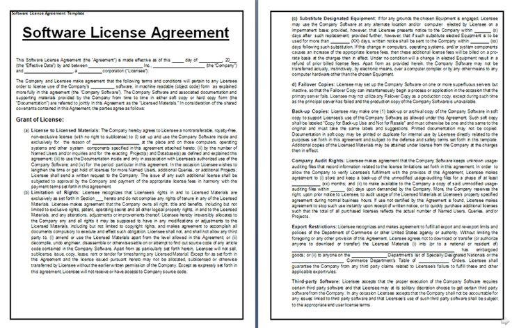 Software License Agreement Sample Form