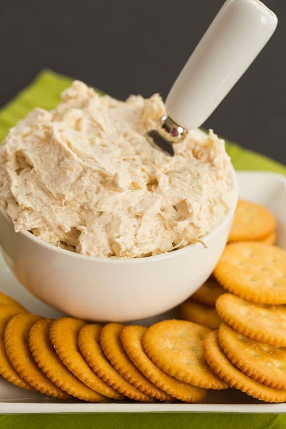 Easy and Delish Underwood Chicken Spread. Perfect appetizer for a party, bbq, family gathering, or picnic!