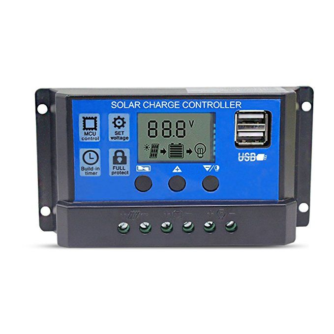 Binen 12v 24v Solar Charge Controller 10a Charge Regulator Intelligent Usb Port Lcd Display Overload Pro Solar Panel Battery Solar Panel Charger Solar Panels