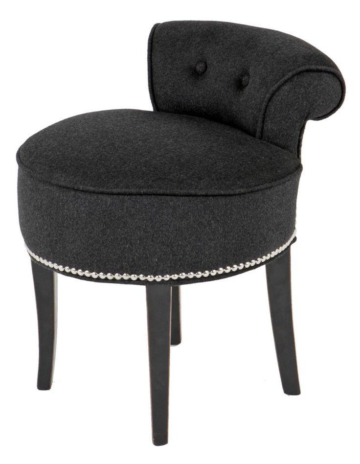 Black Dressing Table Stool