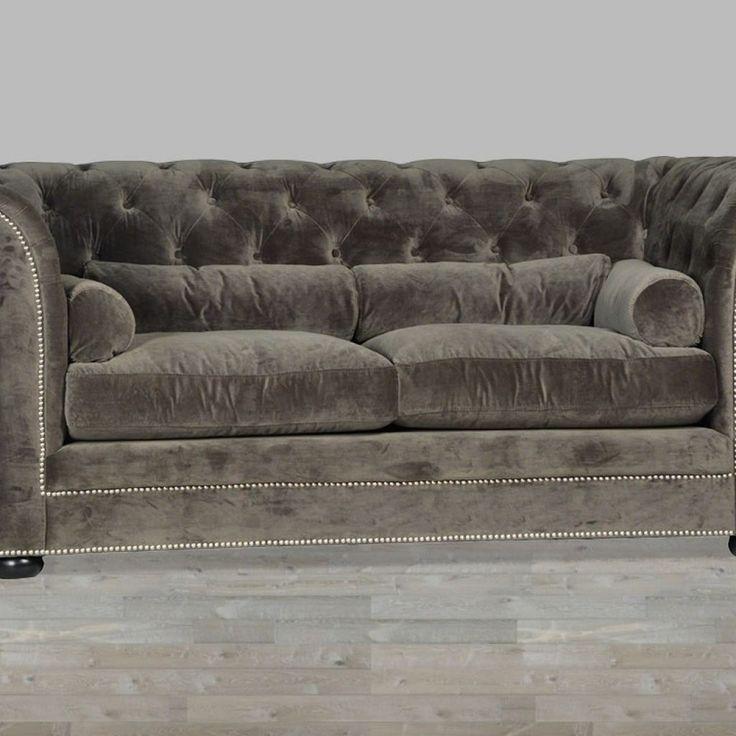 Grey Velvet Sleeper Sofa