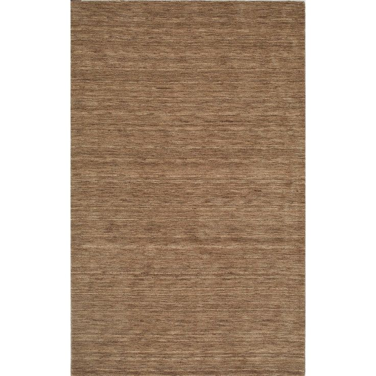 "Tonal Solid 100% Wool Accent Rug - Taupe (Brown) (3'6""x5'6"")"