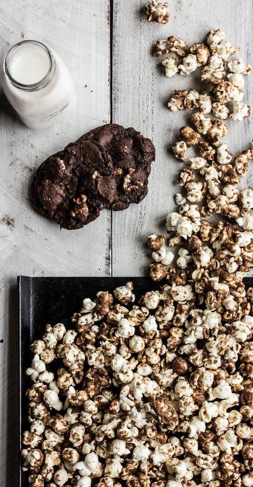 choc caramel corn cookies