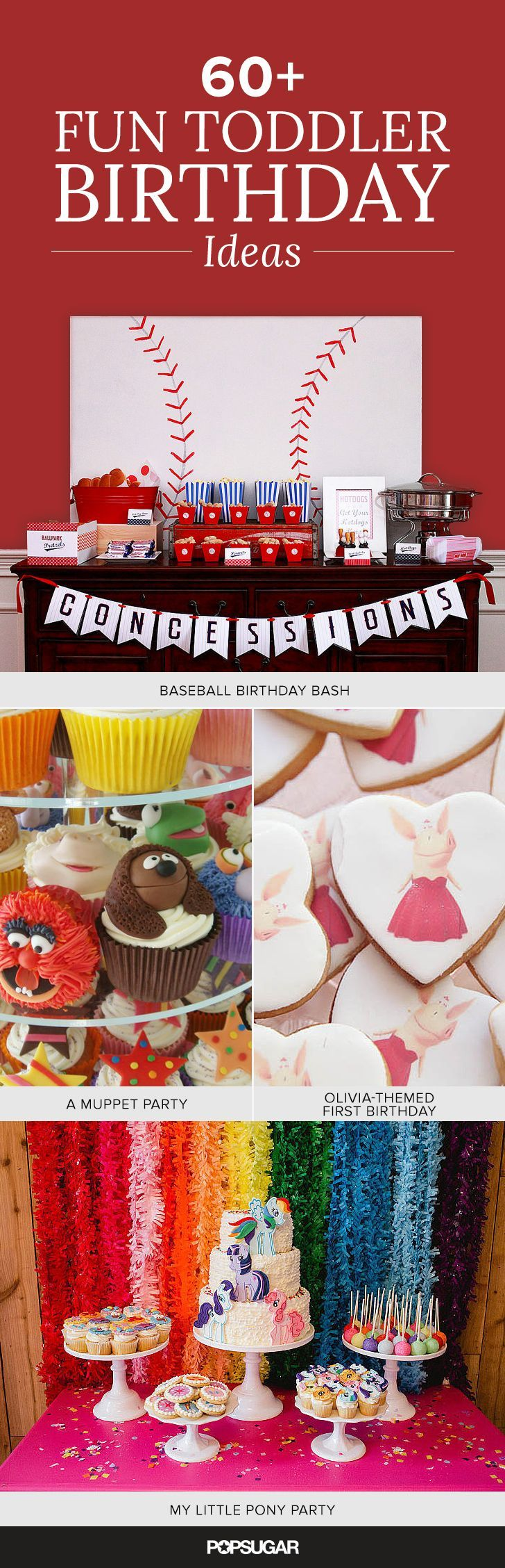 Make your 2-to-4-year-old's birthday one to remember by drawing inspiration from one of these varied and clever themes for boys and girls alike.
