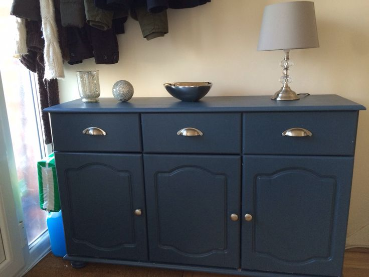 Blue bedroom wall paint ideas - Sideboard Painted Farrow And Ball S Stiffkey Blue