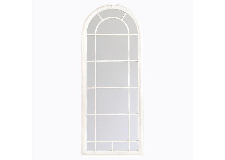 Настенное зеркало «Шайо» (белый антик)