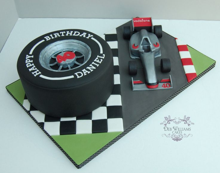 Formula one theme birthday cake by Deb Williams Cakes