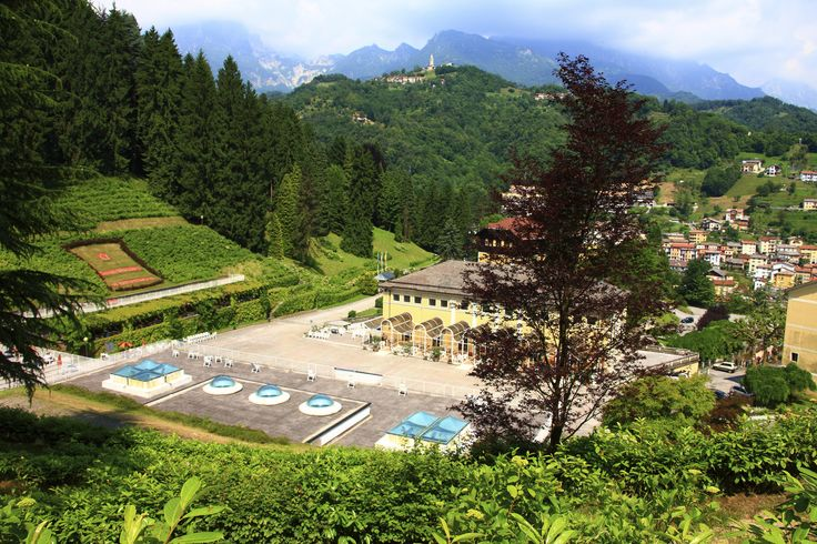 """Immersed in the tranquillity and green of the """"Conca di Smeraldo"""" (Emerlad Valley), Recoaro Terme is found at the foot of the Small Dolomites in the province of Vicenza. This position gives a suggestive and variegated panorama."""