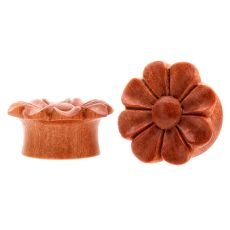 Organic Sabo Wood Wildflower Plugs 8G - 1 (3mm - 25mm) | Body jewelry expertly crafted from organic materials makes UrbanStar a premier leader in the field. Delicately rounded petals and smooth floral detail carved by skilled artisans make each of these chocolate wildflower plugs a unique creation.  Made from Sabo wood, these double flared plugs of earthy, luminous shine darken over time with from wear for further personalization. Made with comfort, durability and beauty in mind, these…