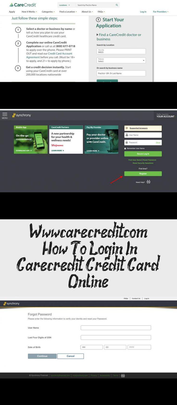 How To Login In Carecredit Credit