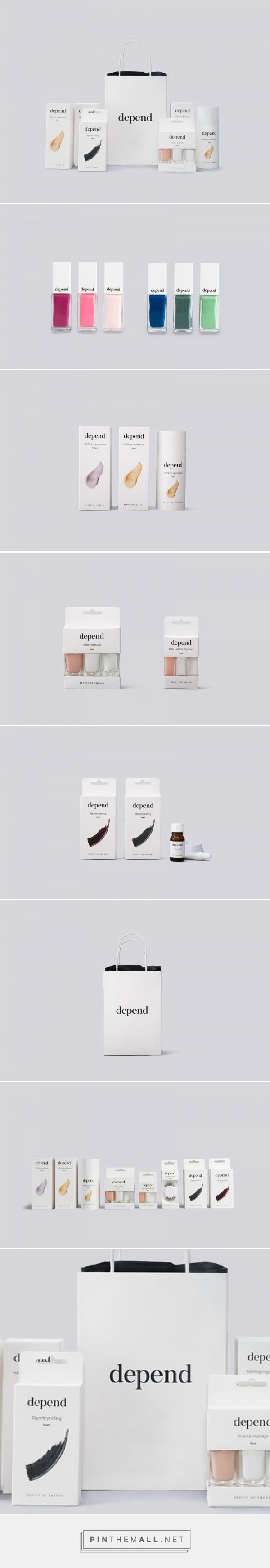 Depend Cosmetics AB - Sandra Kristensson curated by Packaging Diva PD. Rebranding and packaging project for Swedish company Depend Cosmetics AB.