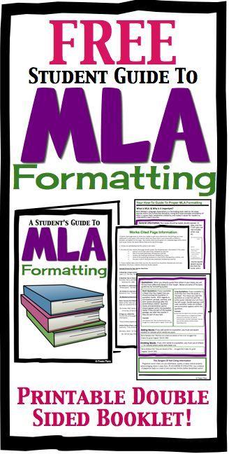 FREE MLA Formatting Booklet For High School Students by Presto Plans #Essay #MLA #Formatting