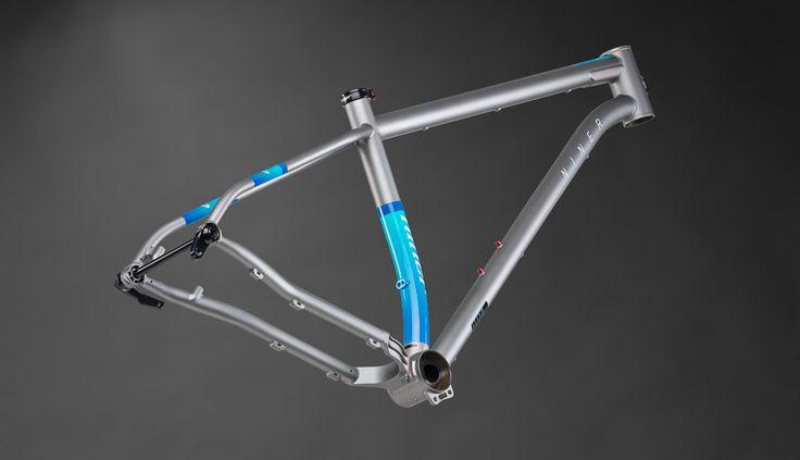 """Niner Ros 9 29"""" Steel Enduro Frame - Forge Grey/Blue"""