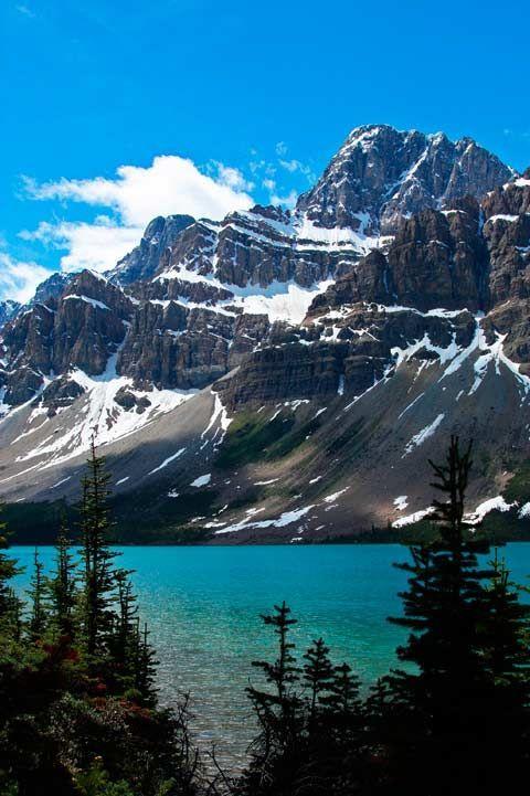 Bow Lake, Nationalpark Banff, Kanadische Rockies, …