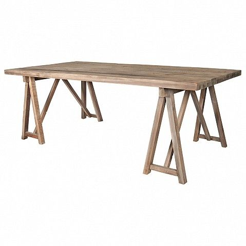 Bleached pine trestle table - Trade Secret