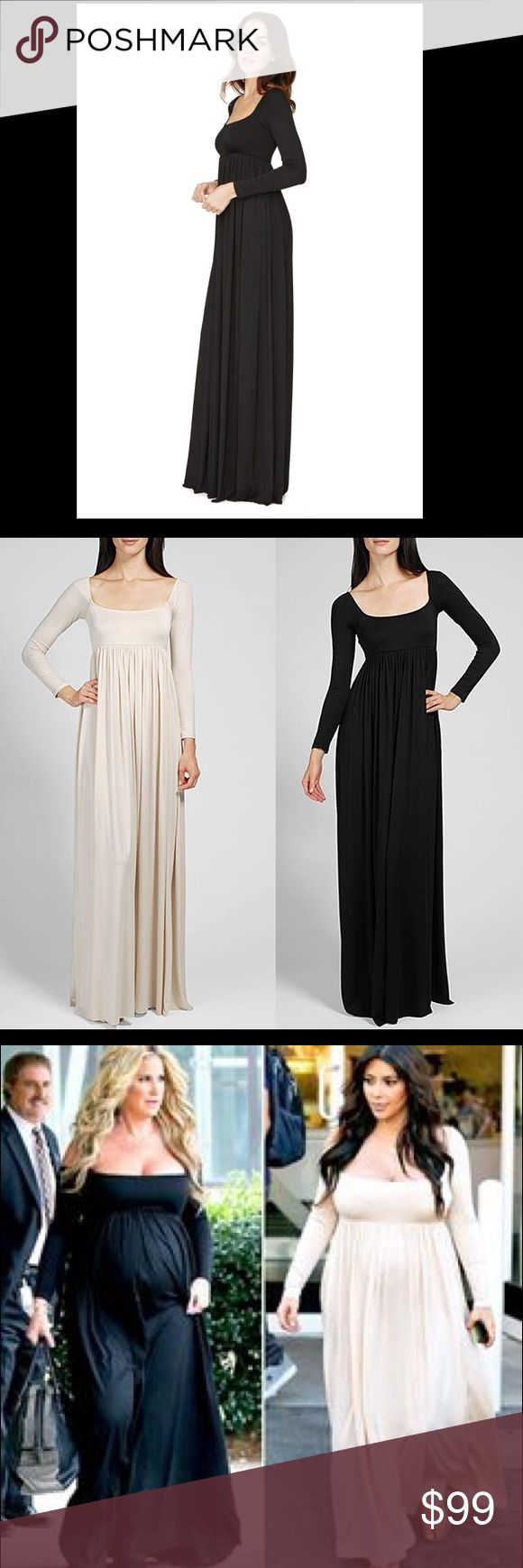 Cream Rachel Pally Isa Dress Can be maxi or maternity. Long and elegant. Comfortable. Can be off shoulder. Worn once Rachel Pally Dresses Maxi