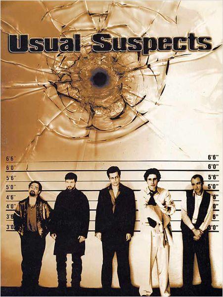 BRYAN SINGER - 1995 - Un cargo supposé transporter pour 91 millions de dollars de cocaïne a explosé dans un port. Seuls deux hommes s'en sont tirés, un marin hongrois, en piteux état, et un petit escroc boiteux, Roger «Verbal» Kint. Celui-ci est interrogé sans relâche par l'agent des douanes Dave Kujan. Peu à peu, «Verbal» finit par se confier : Arrestation de routine. Ils étaient cinq suspects, cinq truands puis les choses se sont gâtée, avec l'irruption de Kobayashi et Keyser Söze...