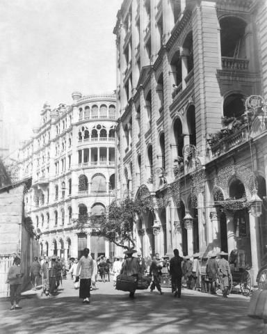 Scan your old or historic photos with iPhone or iPad + Pic Scanner Gold app (Pictured: 1908 Pedder Street, Hong Kong) www.picscannergold.com