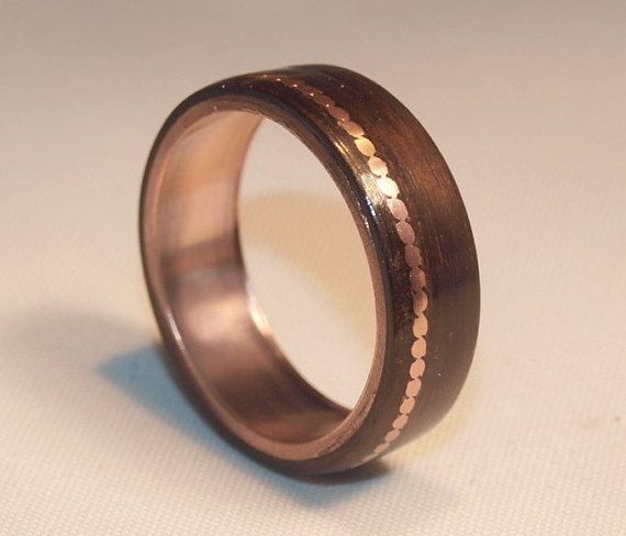 Wooden Rings  Bentwood Copper and Eucalyptus by AncientCuriosities