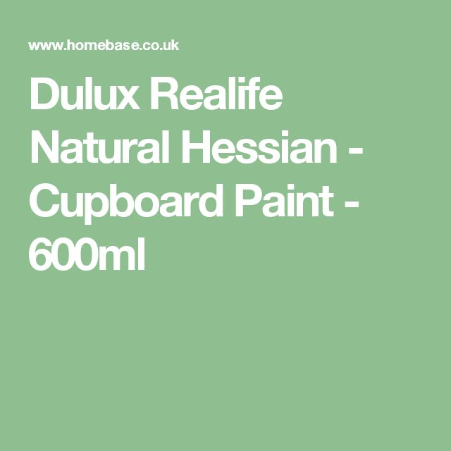 Dulux Realife Cupboard Paint