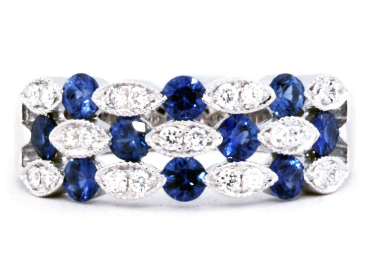 """This triple row sapphire & diamond ring makes a great """"Just Because"""" present!"""