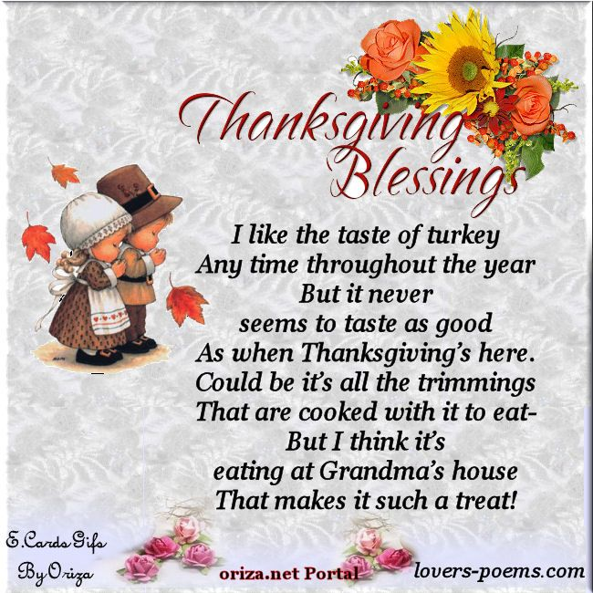 thanksgiving blessings and poems Portal