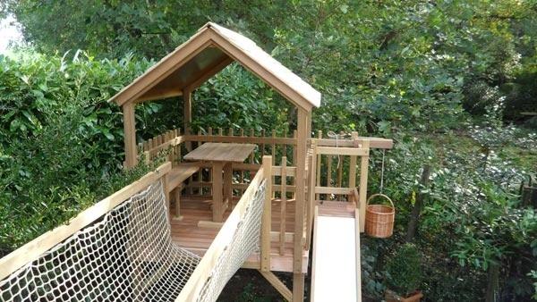 Playhouses and Treehouses - fantasy backyard.
