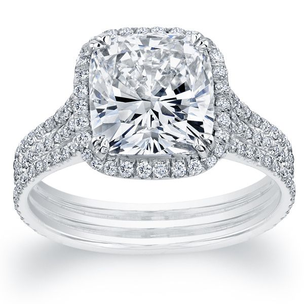 Cushion Cut Diamond Engagement Ring by Aaland Diamond Co.
