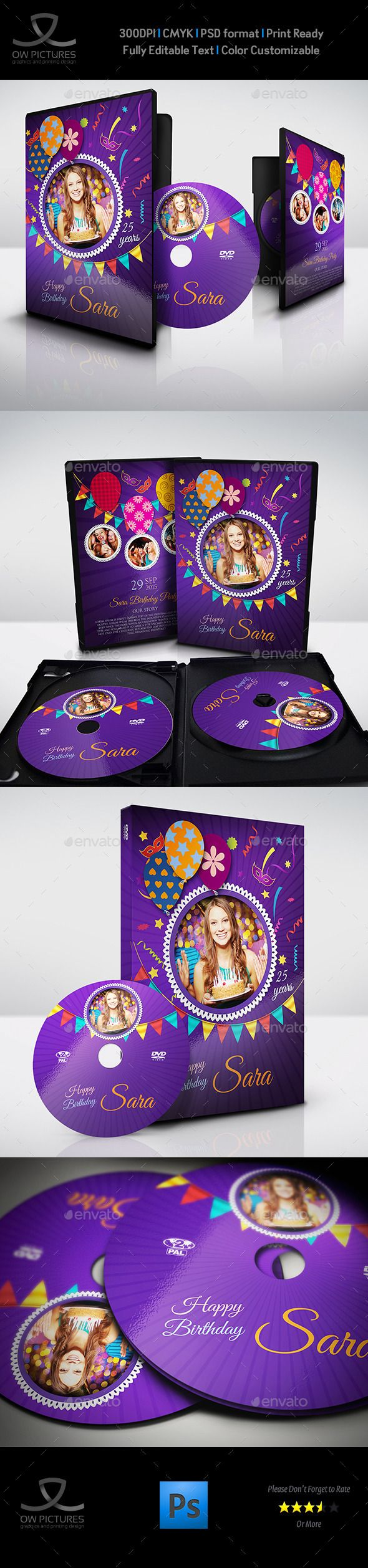 Birthday Party DVD Cover and DVD Label Template PSD. Download here: http://graphicriver.net/item/birthday-party-dvd-cover-and-dvd-label-template-3/11264169?ref=ksioks