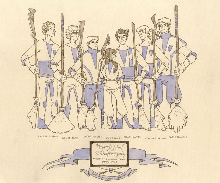 Ravenclaw Quidditch. Very cool site and app that showcases Harry Potter artwork by numerous artists!