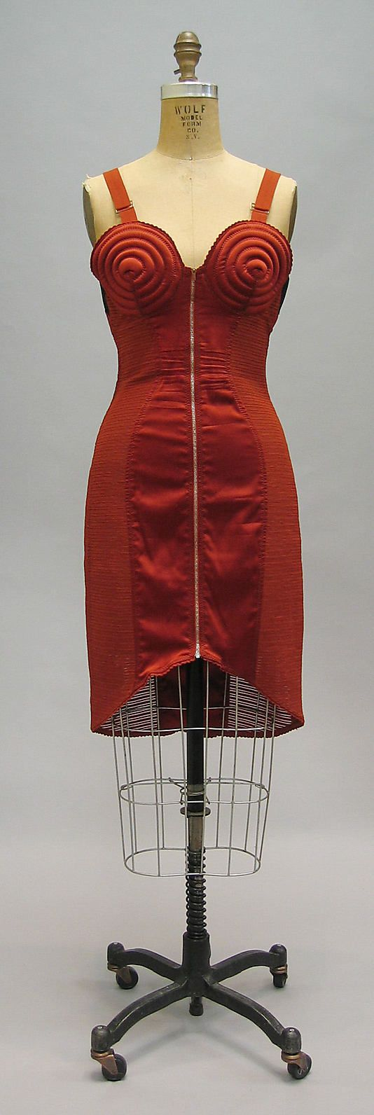 Dress  Jean Paul Gaultier  (French, born 1952)   Date:1987. Very 80's Madonna-ish.....