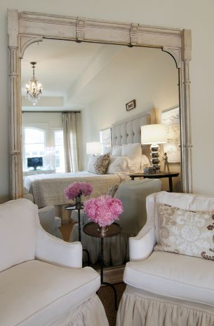 Suzie: Sally Wheat Interiors - Shabby chic bedroom design with vintage white washed floor ...